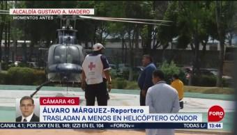 Foto: Trasladan en helicóptero a menor con traumatismo craneoencefálico