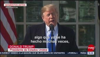 Trump confirma declaratoria de emergencia nacional para construir muro