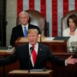 Foto: Donald Trump, presidente de Estados Unidos, durante su discurso sobre el Estado de la Unión, del 5 de febrero del 2019