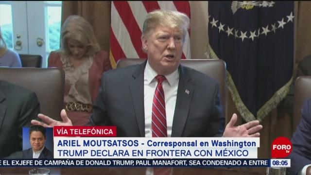 FOTO: Trump se va a descansar a su residencia tras declarar emergencia nacional, 16 febrero 2019