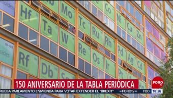 Foto: UNAM instala enorme tabla periódica en cristales de la Facultad de Química