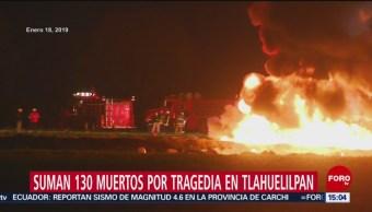 Van 130 muertos por explosión en Tlahuelilpan