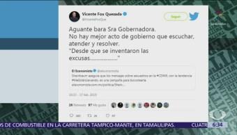 Vicente Fox critica a Claudia Sheinbaum