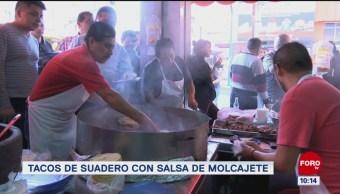 Viernes Culinario: Tacos de suadero con salsa de molcajete