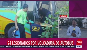 FOTO: Volcadura de autobús con futbolistas deja 24 heridos en Guerrero, 2 febrero 2019