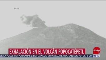 Volcán Popocatépetl registra exhalación de baja intensidad