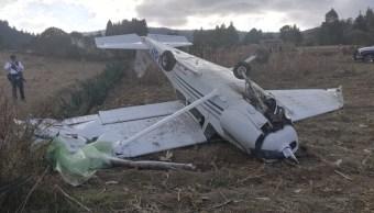 avioneta aterriza de emergencia en zinacantepec estado de mexico