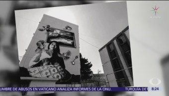 Yalitza Aparicio recibe homenaje en muros de Iztapalapa