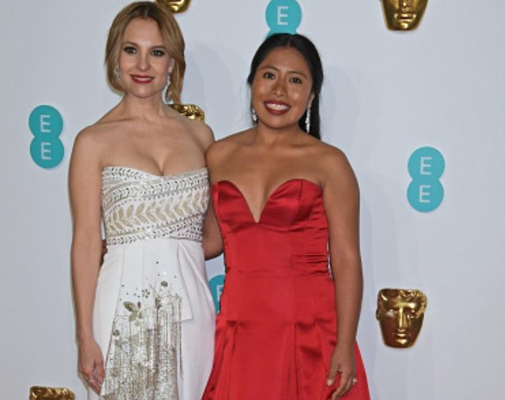 Foto: Marina de Tavira y Yalitza Aparicio asisten a los Premios de Cine de la Academia Británica, febrero 10 de 2019, Londres (Getty Images)