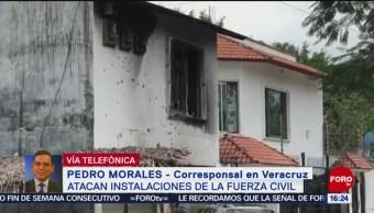 FOTO: 150 balazos reciben instalaciones de la Fuerza Civil en Veracruz, 16 marzo 2019
