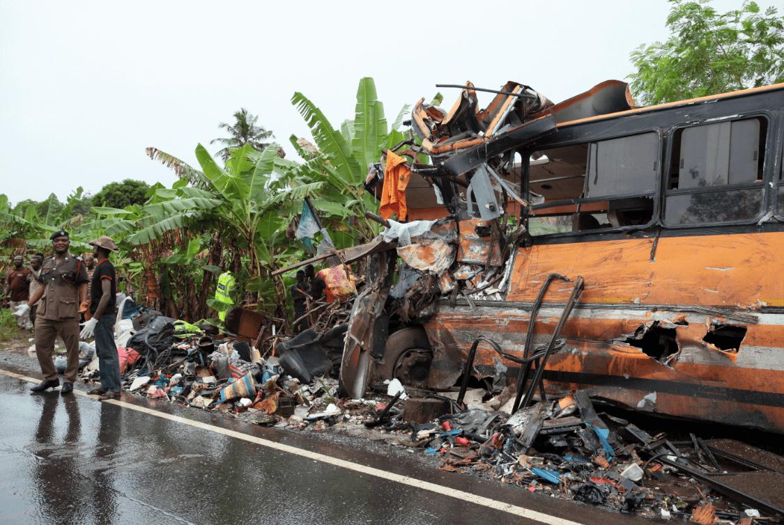 Foto: Accidente de autobuses en Ghana, 22 de marzo de 2019, África