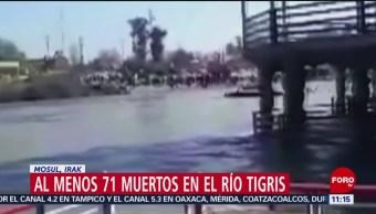 Al menos 71 muertos tras volcadura de ferry en Río Tigris, Irak
