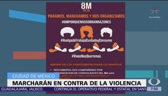 Foto: Alistan 'Marcha 8M' en contra de la violencia de mujeres en CDMX