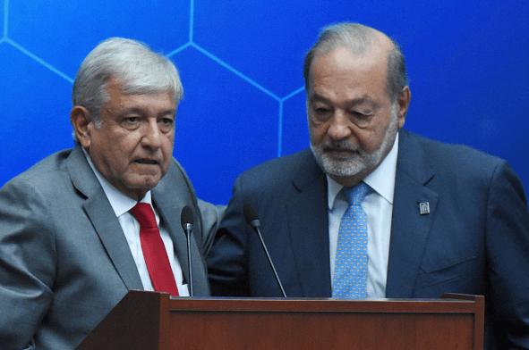 Foto: Andrés Manuel López Obrador y Carlos Slim, 6 de agosto de 2018, Ciudad de México