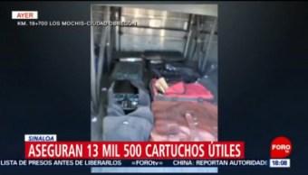 FOTO: Aseguran 13 mil 500 cartuchos útiles en Sinaloa, 24 Marzo 2019
