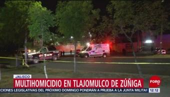 Asesinan a 6 hombres en establecimiento comercial de Tlajomulco, Jalisco