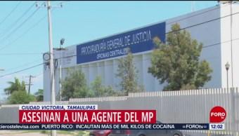 Asesinan a agente del MP en Ciudad Victoria, Tamaulipas