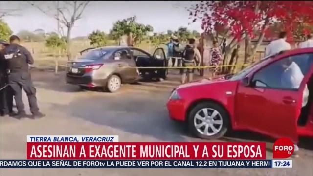 FOTO: Asesinan a exagente municipal, en tierra Blanca, 25 marzo 2019