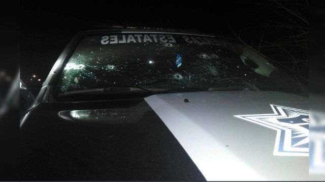 Foto: Atacan a policías de Chihuahua, diciembre de 2019. Twitter @ComSocChih