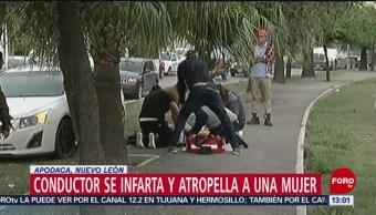 FOTO: Automovilista sufre infarto y atropella a mujer en Nuevo León, 8 MARZO 2019