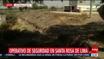 Autoridades rellenan 'trinchera' excavada por huachicoleros en Santa Rosa de Lima