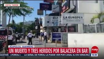 FOTO:Balacera en bar de Acapulco deja un muerto y tres heridos, 23 Marzo 2019