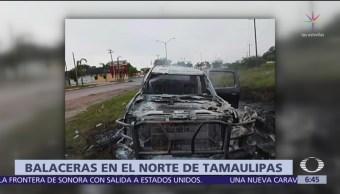 Foto: Balaceras en Miguel Alemán, Tamaulipas, duraron horas