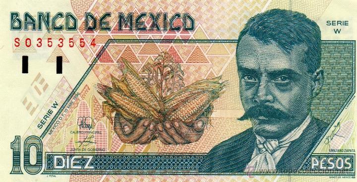 foto billete 10 pesos anverso