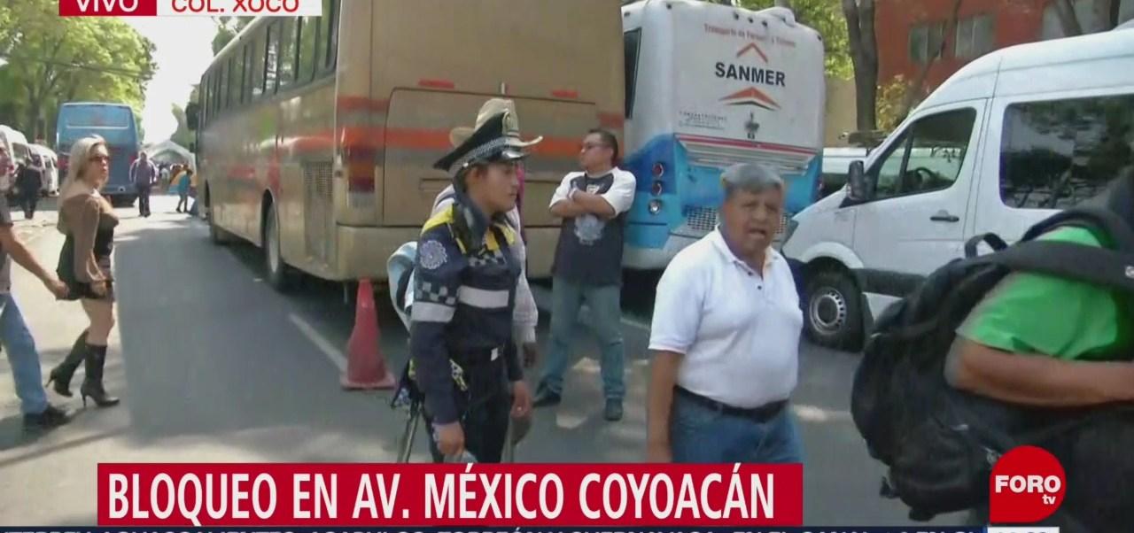 Foto: Bloqueo en Av. México-Coyoacán; SSC desvía el tránsito