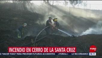 Foto: Bomberos combaten incendio en pastizales en Santa Cruz Xochitepec