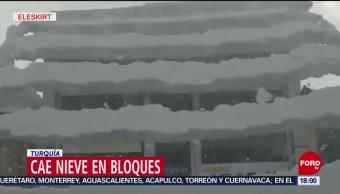 Foto: Cae nieve en bloques en Turquía