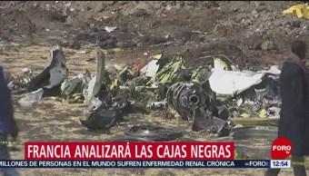 Cajas negras del vuelo siniestrado de Ethiopian Airlines llegan a Francia