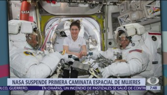 Cancelan caminata espacial, el traje no le queda a astronauta