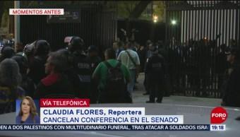Foto: Cancelan Conferencia Reforma Educativa Senado 20 de Marzo 2019