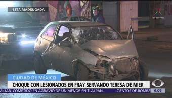 FOTO: Choque en Fray Servando Teresa de Mier deja dos lesionados, 18 marzo 2019