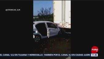 Choque múltiple en la autopista México-Querétaro