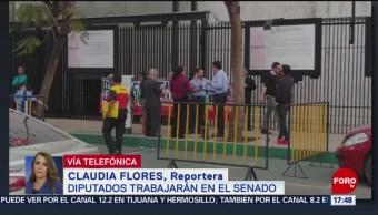 Foto: CNTE lleva bloqueo al Senado de la República