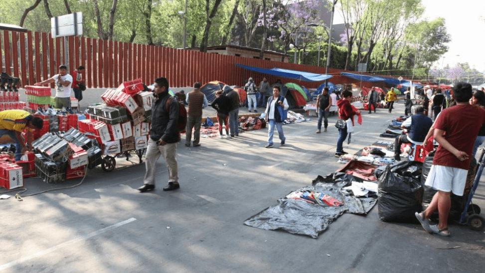 Plantón de maestros de la CNTE en los accesos de San Lázaro, 22 marzo 2019
