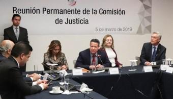Foto: Reunión ordinaria de la Comisión de Justicia donde se declara idóneas a las 3 mujeres propuestas por AMLO para ocupar el cargo de ministra de la SCJN, Ciudad de México (Twitter: @senadomexicano)