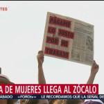 FOTO:Conmemoran Día de la Mujer en el Zócalo de la CDMX, 8 marzo 2019