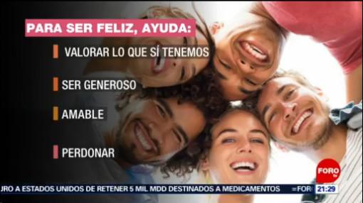 Foto: Características Persona Feliz Felicidad 20 de Marzo 2019