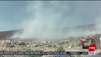 Continúa incendio en vertedero municipal en Ocotlán, Jalisco