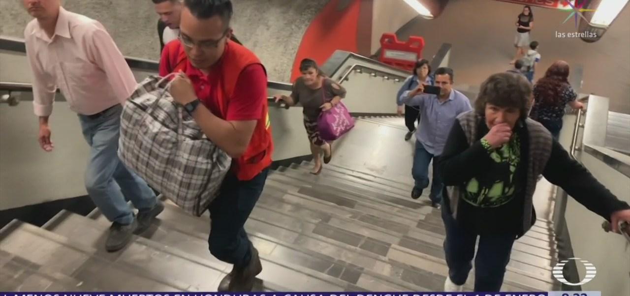 Continúa mantenimiento en escaleras eléctricas de L7 del Metro CDMX