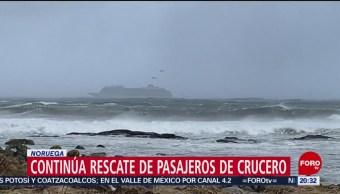 FOTO:Continúa rescate de pasajeros de crucero en Noruega, 23 Marzo 2019