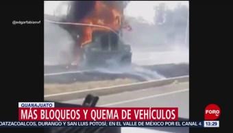 Foto: Continúan los bloqueos en Guanajuato