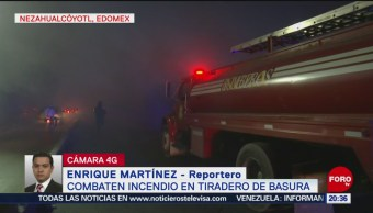 Foto: Controlan Incendio Tiradero Basura Edomex Neza 25 Marzo 2019