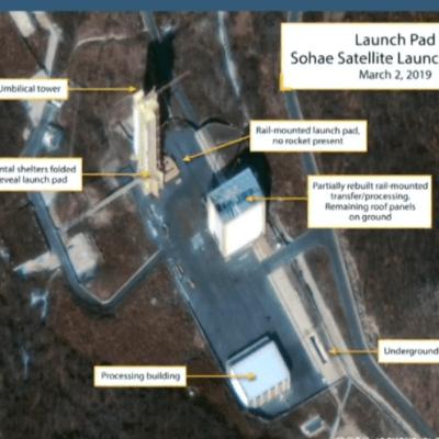 Corea del Norte restaura plataforma de lanzamiento de cohetes