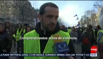 FOTO:Daños tras protestas en Campos Elíseos en Francia, 17 marzo 2019