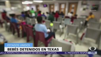 Denuncian que 9 bebés migrantes están detenidos en Texas