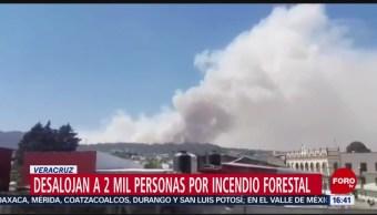 Foto: Desalojan a 2 mil personas por incendio forestal en Veracruz